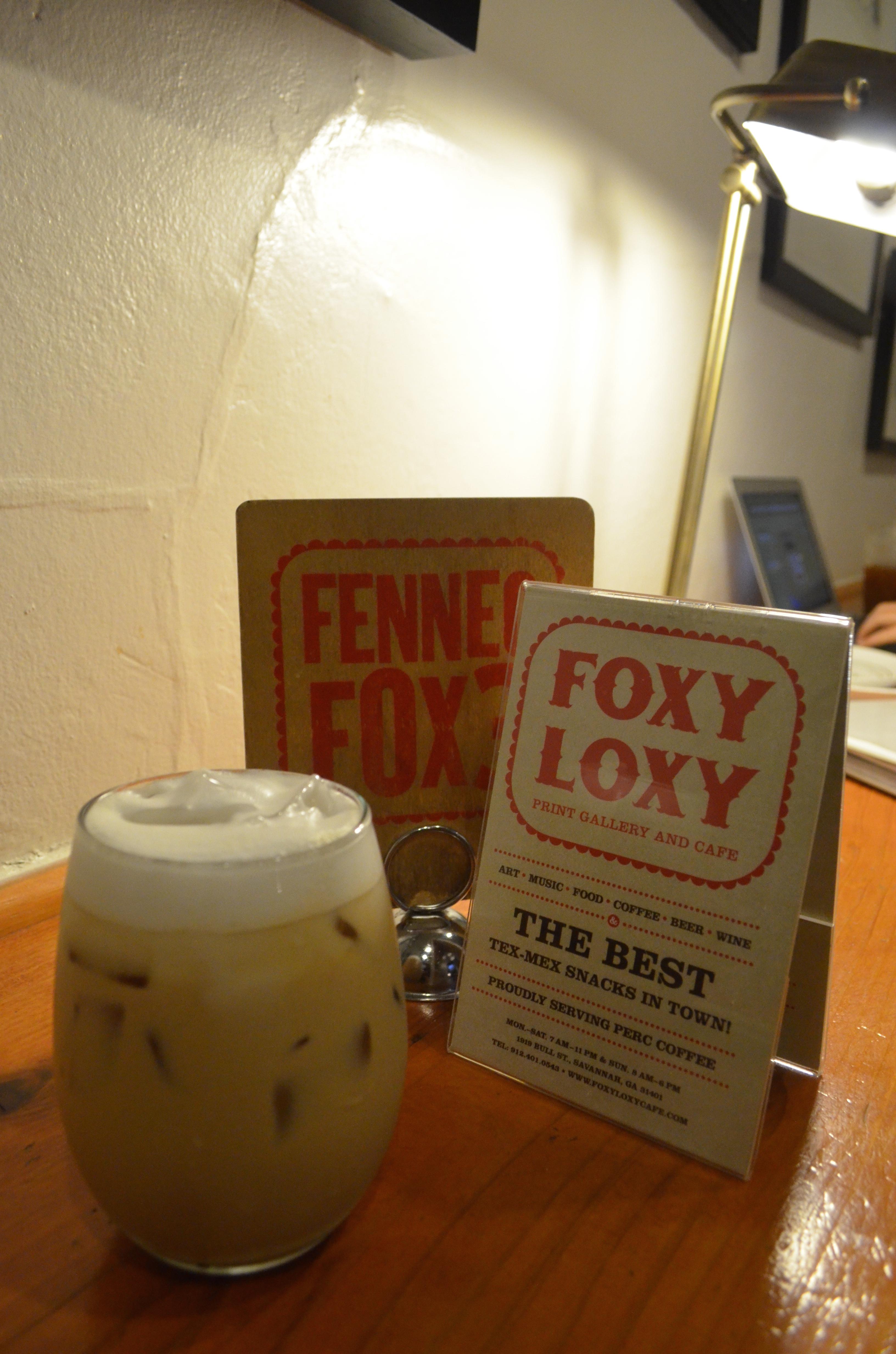 Foxy Loxy Cafe Menu