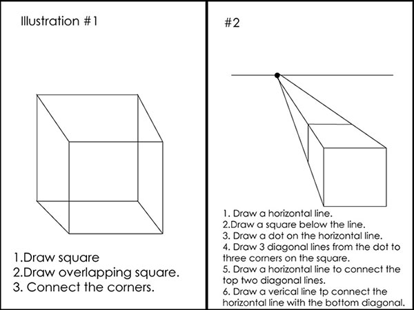 How To Draw A 3 D Rectangle Or Cube Southern Bon Vivant